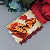 """Обложки ручной работы. Ярмарка Мастеров - ручная работа Обложка на паспорт """"Пин Ап"""" из натуральной кожи. Handmade."""