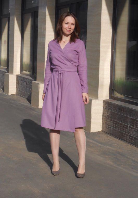 Платья ручной работы. Ярмарка Мастеров - ручная работа. Купить Платье на запах / шерстяное платье / платье пальто. Handmade.