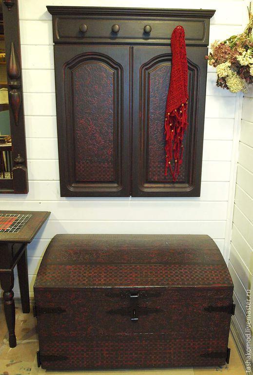 """Мебель ручной работы. Ярмарка Мастеров - ручная работа. Купить Комплект мебели (сундук и вешалка) """"Мне приснилось небо Лондона..."""". Handmade."""