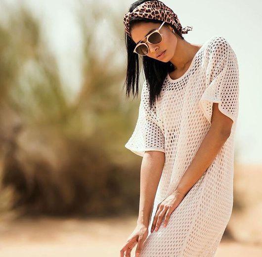 """Пляжные платья ручной работы. Ярмарка Мастеров - ручная работа. Купить Туника дизайнерская """"Jumeirah"""".Платье женское. Handmade. Черный"""