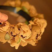 """Украшения ручной работы. Ярмарка Мастеров - ручная работа ободок """"Пудра корицы"""". Handmade."""