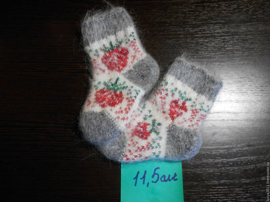 Носки, Чулки ручной работы. Ярмарка Мастеров - ручная работа. Купить Детские теплые носочки. Handmade. Носки, носки спицами