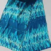 """Аксессуары ручной работы. Ярмарка Мастеров - ручная работа шелковый шарф """"Морская волна"""" (батик). Handmade."""