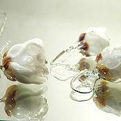 """Украшения ручной работы. Ярмарка Мастеров - ручная работа Комплект""""Белые цветы"""".. Handmade."""