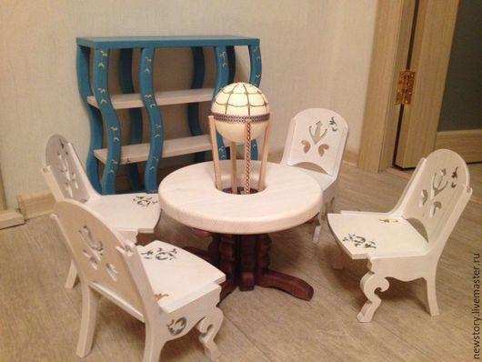 """Кукольный дом ручной работы. Ярмарка Мастеров - ручная работа. Купить Кукольная мебель """"Сказочные образы"""". Handmade. Синий"""