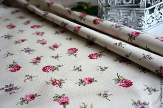Шитье ручной работы. Ярмарка Мастеров - ручная работа. Купить Ткань хлопок  с покрытием TEFLON 130063-22. Handmade. Роза