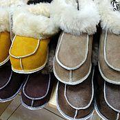 Обувь ручной работы handmade. Livemaster - original item Adult fur socks. Handmade.