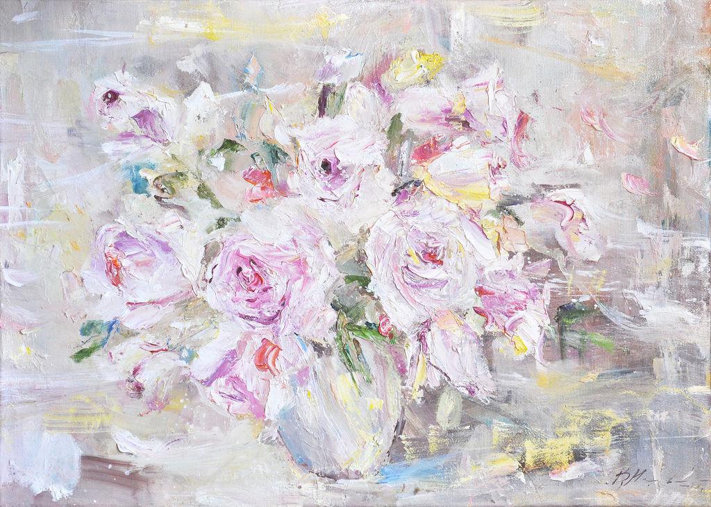`Нежный букет весны ` Картина маслом 50/70 см