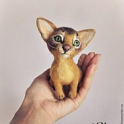 """Куклы и игрушки ручной работы. Ярмарка Мастеров - ручная работа Интерьерная игрушка """"Абиссинская кошка Лара"""". Handmade."""