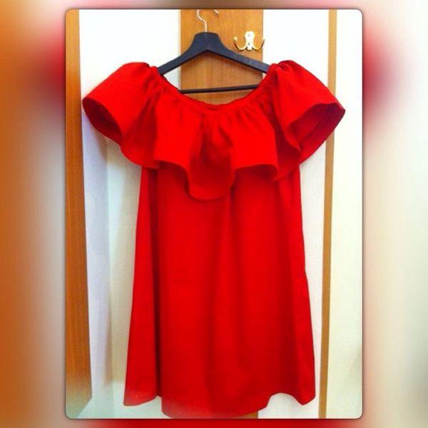 d6223872e59 Платья ручной работы. Ярмарка Мастеров - ручная работа. Купить Красное  платье с воланом из ...