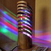 Для дома и интерьера handmade. Livemaster - original item Lamp night light, wood, LEDs with remote control. Handmade.