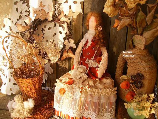 Куклы Тильды ручной работы. Ярмарка Мастеров - ручная работа. Купить Тильда в стиле Бохо: Варварушка интерьерная текстильная кукла. Handmade.