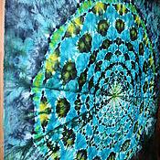 """Картины и панно ручной работы. Ярмарка Мастеров - ручная работа Полотно батик """"Мандала"""". Handmade."""