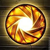 Для дома и интерьера handmade. Livemaster - original item Solar Eclipse. Wall lamp (shade overlay) veneer. Handmade.