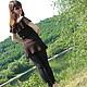 Dresses handmade. Dress-tunic 'CHOCOLATE'. Yulia Biedina. Crochet Studio. Online shopping on My Livemaster. Chocolate, vacation