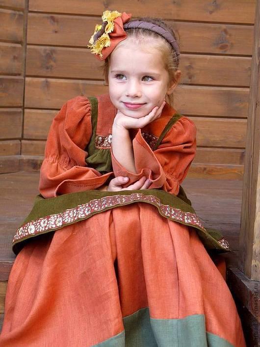 Одежда для девочек, ручной работы. Ярмарка Мастеров - ручная работа. Купить Костюм в русском стиле Сударыня. Handmade. Рыжий