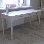 Для дома и интерьера ручной работы. Ярмарка Мастеров - ручная работа Деревянный письменный стол (004). Handmade.
