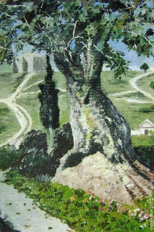 `Олива в Гефсиманском саду` репродукция картины В.Поленова. Ковалевская Ангелина