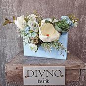 Композиции ручной работы. Ярмарка Мастеров - ручная работа Композиции: цветы в конверте. Handmade.
