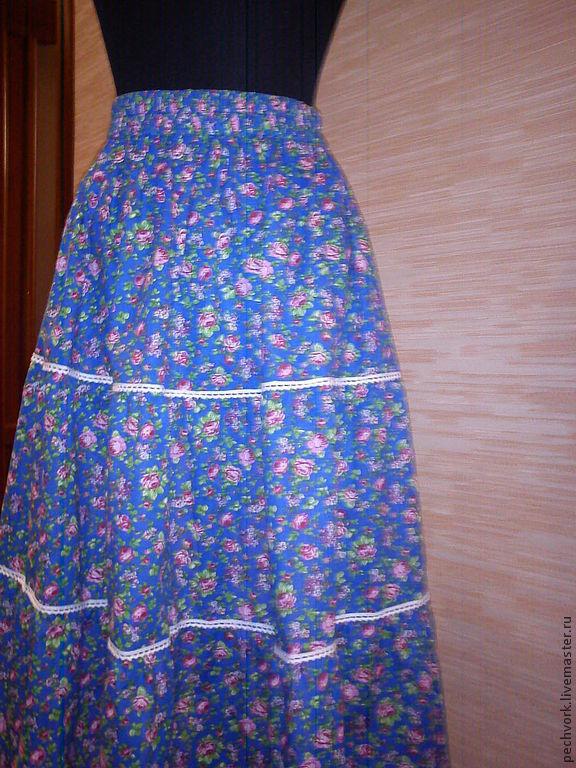 Длинная юбка из ситца