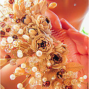 Свадебный салон ручной работы. Ярмарка Мастеров - ручная работа Свадебный гребень с пионами. Handmade.