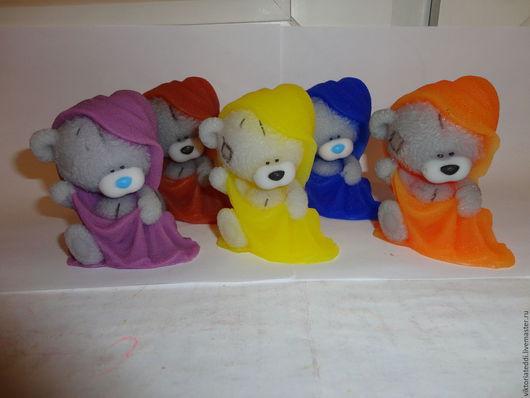 Мыло ручной работы. Ярмарка Мастеров - ручная работа. Купить Мишка Тедди в полотенце.. Handmade. Разноцветный, серый, подарок девушке
