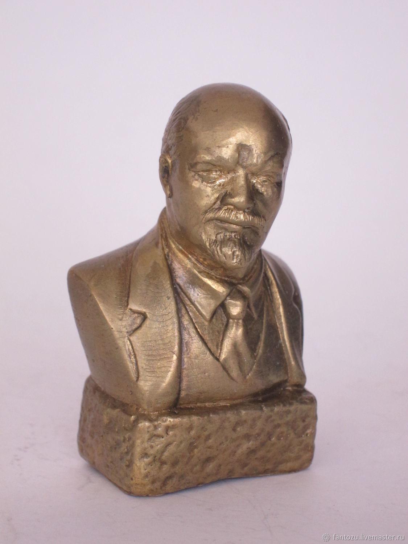 Brass bust of Lenin V. I, Model, Yaroslavl,  Фото №1