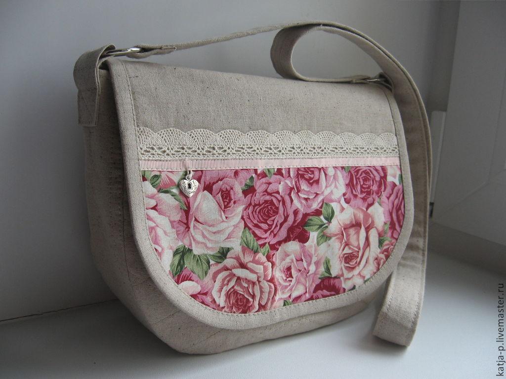 b9fdf8959130 Женские сумки ручной работы. Ярмарка Мастеров - ручная работа. Купить  Летняя льняная сумочка.