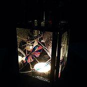 """Для дома и интерьера ручной работы. Ярмарка Мастеров - ручная работа -20% Фонарь-подсвечник """"Волшебные стрекозы"""". Handmade."""