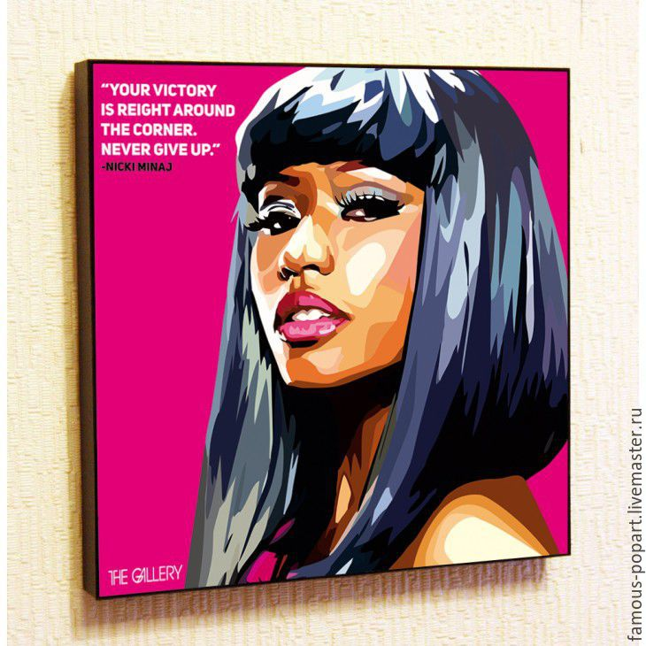 Picture a Nicki Minaj Poster in the style of Pop Art, Fine art photographs, Moscow,  Фото №1