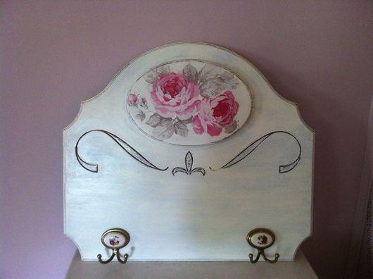 """Кухня ручной работы. Ярмарка Мастеров - ручная работа. Купить Вешалка """"Романтичные розы"""". Handmade. Белый, вешалка для кухни"""