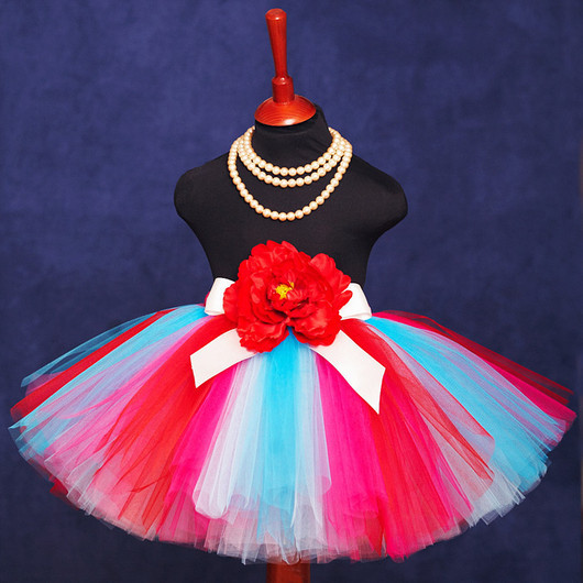 """Одежда для девочек, ручной работы. Ярмарка Мастеров - ручная работа. Купить """"Карибский рассвет"""" пышная юбка-пачка из фатина. Handmade."""