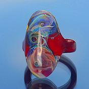 """Украшения ручной работы. Ярмарка Мастеров - ручная работа Лэмпворк кольцо """"Роскошные цветы"""" размер 18,5. Handmade."""