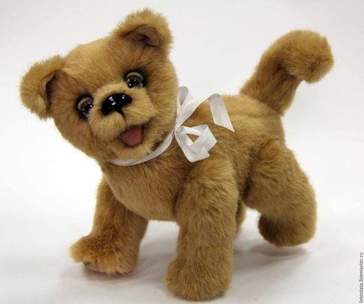 Мишки Тедди ручной работы. Ярмарка Мастеров - ручная работа. Купить Веселый щенок Хачи.. Handmade. Бежевый, мишки, тедди