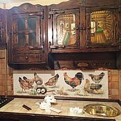 Дизайн и реклама handmade. Livemaster - original item Apron for kitchen, pictures of tile