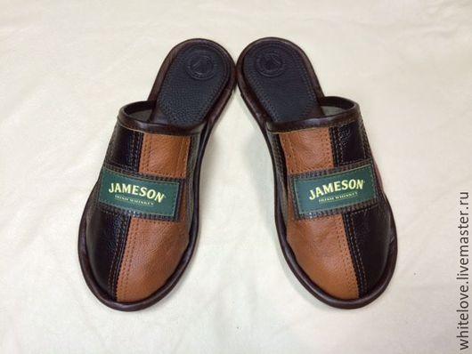 """Обувь ручной работы. Ярмарка Мастеров - ручная работа. Купить Кожаные тапочки """"Jameson"""". Handmade. Комбинированный, мужская обувь"""