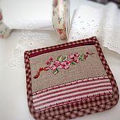 Сумки и аксессуары handmade. Livemaster - original item Zipper case cross stitch apple tree branch. Handmade.