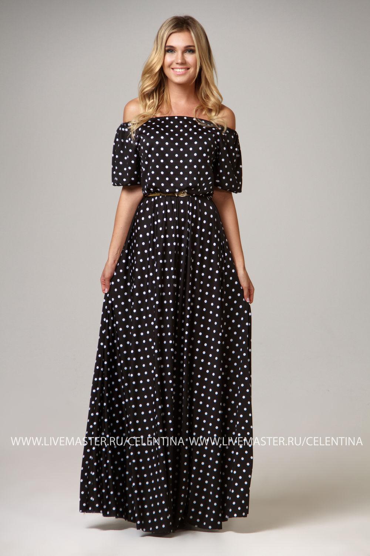 b485721ffd8 Платье в пол горох - Модадром