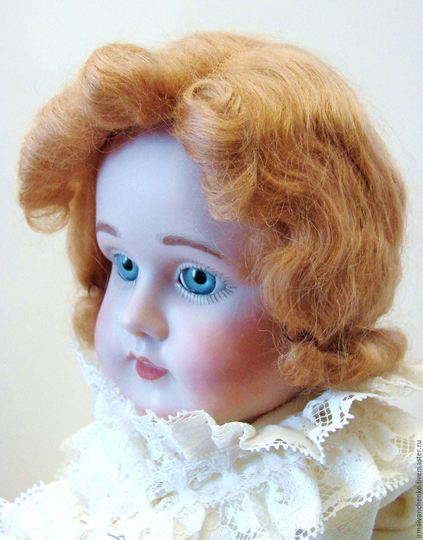 Антикварный мохеровый парик для антикварной куклы, Материалы для кукол и игрушек, Тула,  Фото №1