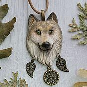 Украшения ручной работы. Ярмарка Мастеров - ручная работа Кулон тотем Волк. Handmade.