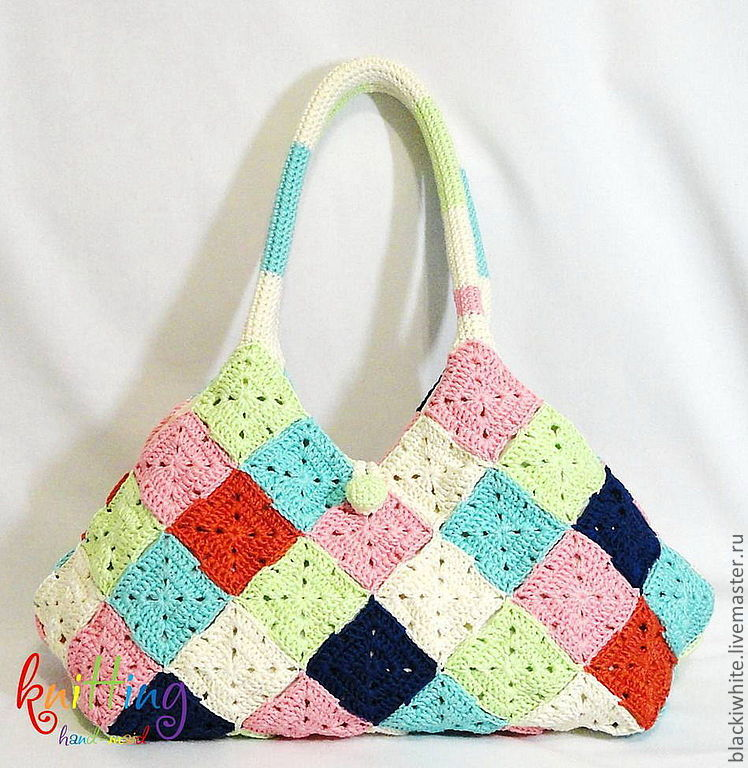 article 01-160 knitted bag, knit to order, handmade, bag for summer, summer