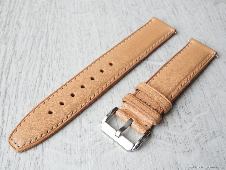 Ремешок для часов из кожи 20мм, Часы, Москва, Фото №1