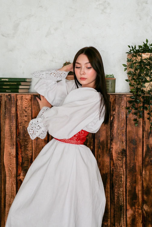 Платье-рубаха Кружевница Белая, Платья, Омск,  Фото №1