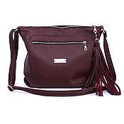 Сумки и аксессуары handmade. Livemaster - original item Marsala Burgundy Bag with crossbody shoulder strap. Handmade.