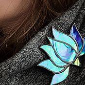 Украшения handmade. Livemaster - original item Stained glass brooch