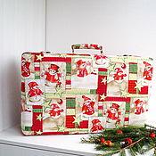 Сувениры и подарки handmade. Livemaster - original item Suitcase for Christmas toys