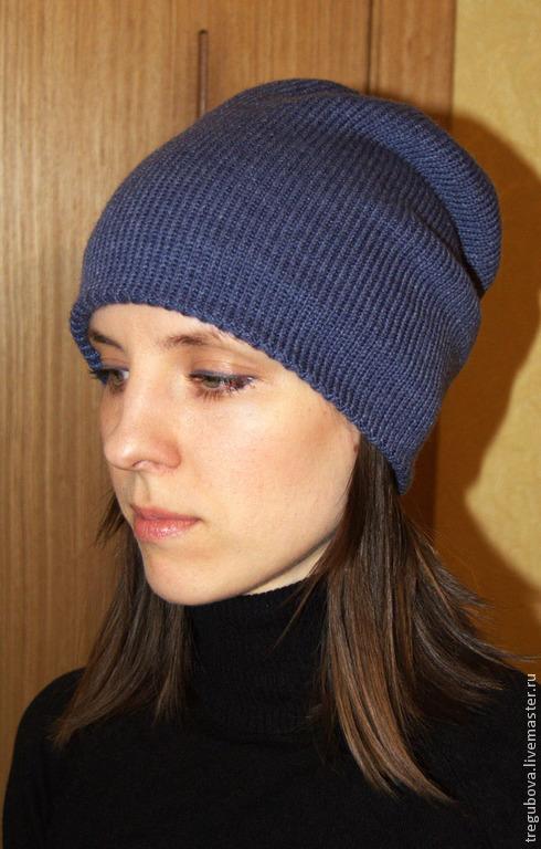 Шапки ручной работы. Ярмарка Мастеров - ручная работа. Купить Шапка зимняя теплая двухстронняя. Handmade. Синий, шапка женская