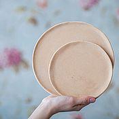"""Посуда ручной работы. Ярмарка Мастеров - ручная работа Набор из 3 керамических тарелок ручной работы. Серия """"Simplicity"""". Handmade."""