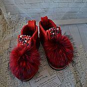 """Обувь ручной работы. Ярмарка Мастеров - ручная работа Дизайнерские валенки """"Пламя"""". Handmade."""
