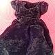 Одежда. Настоящее театральное платье для куклы с сумочкой. Надежда (baby-best). Ярмарка Мастеров. Кукольная одежда, антикварное платье, бархат